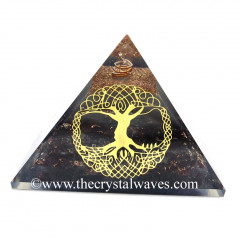 Glow In Dark GID Garnet Chips Orgone Pyramid With Big Tree Of Life