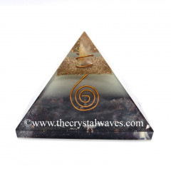 Glow In Dark GID Garnet Chips Orgone Pyramid With Copper Wrrapped Crystal Point