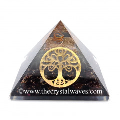 Glow In Dark GID Garnet Chips Orgone Pyramid With Big New Tree  Of Life
