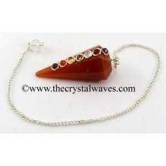 Red Aventurine Faceted Chakra Pendulum