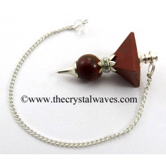 Red Jasper 2 Pc Pyramid Ball Pendulum