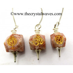 Sunstone Engraved Hexagonal Pendulum