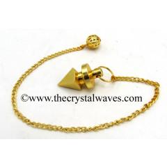 Metal Dowsing Pendulum Golden Style 10
