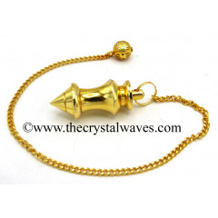 Metal Dowsing Pendulum Golden Style 11