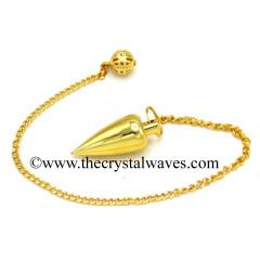 Metal Dowsing Pendulum Golden Style 14