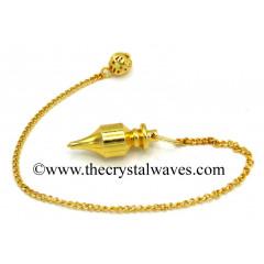 Metal Dowsing Pendulum Golden Style 15