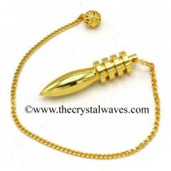 Metal Dowsing Pendulum Golden Style 19