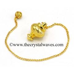 Metal Dowsing Pendulum Golden Style 20