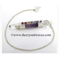 Amethyst 3 Piece Chakra Pendulumn
