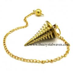 Metal Dowsing Pendulum Golden Style 25