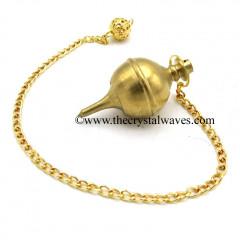 Metal Dowsing Pendulum Golden Style 26