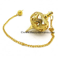 Metal Dowsing Pendulum Golden Style 27
