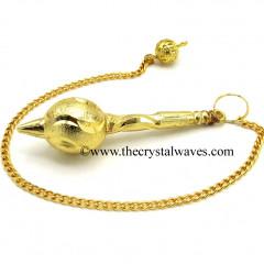 Metal Dowsing Pendulum Golden Style 28