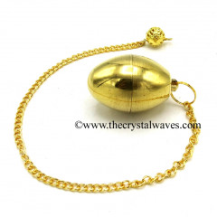 Egg Shape Metal Dowsing Pendulum