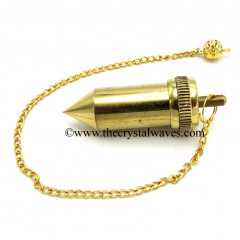 Metal Dowsing Pendulum Golden Style 29