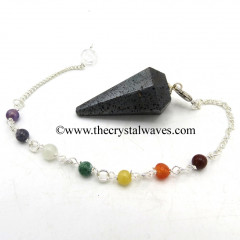 Hematite Faceted Pendulum With Chakra Chain