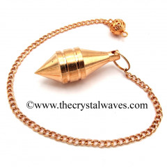 Metal Dowsing Pendulum Copper Style 37