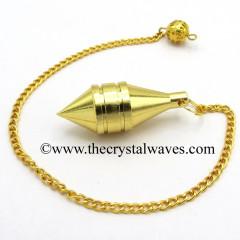 Metal Dowsing Pendulum Golden Style 37