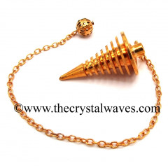 Metal Dowsing Pendulum Copper Style 25