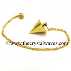 Metal Dowsing Pendulum Golden Style 41