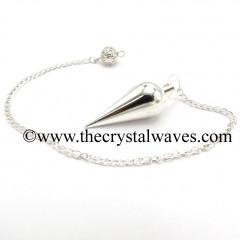 Metal Dowsing Pendulum Silver Style 42