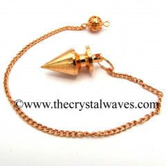 Metal Dowsing Pendulum Copper Style 1