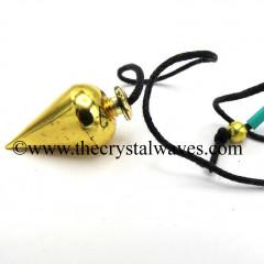 Metal Dowsing Pendulum Brass Style 45