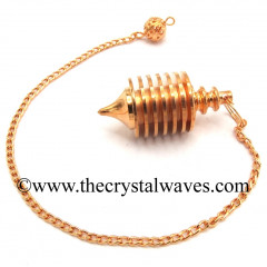 Broad ISIS Shape Copper Pendulum With Hollow Compartment Style 33