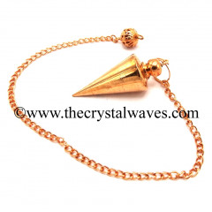 Metal Dowsing Pendulum Copper Style 47