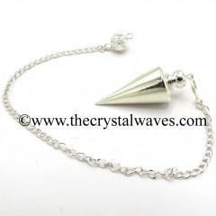 Metal Dowsing Pendulum Silver Style 47