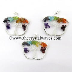 Chakra Chips Butterfly Shape Tree Of Life Pendants