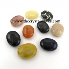 Mix Assorted Gemstones Pillow/Palmstone Shapes