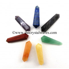 "2 - 3"" Double Terminated Pencil Chakra Set"