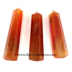"Red Banded Onyx Chalcedony 2"" to 3"" Pencil 6 to 8 Facets"