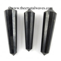 "Shungite 1.50 - 2"" Double Terminated 12 Facet Pencil"