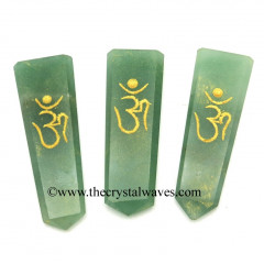 Green Aventurine (Light) Aum Engraved Flat Pencil