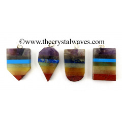 Mix Assorted Shapes Flat 7 Chakra Bonded Pendants