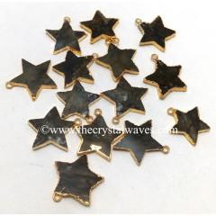 Labradorite Gold Electroplated Star Pendant