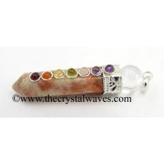 Sunstone 2 Pc Pencil Chakra Pendant