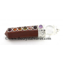 Red Jasper 2 Pc Pencil Chakra Pendant