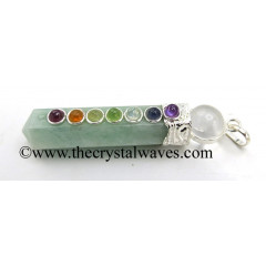 Amazonite 2 Pc Pencil Chakra Pendant