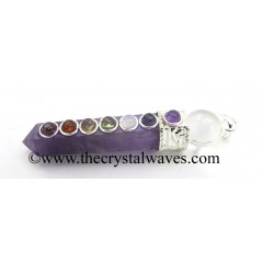 Amethyst 2 Pc Pencil Chakra Pendant
