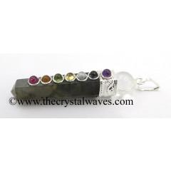 Labradorite 2 Pc Pencil Chakra Pendant