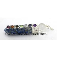 Lapis Lazuli 2 Pc Pencil Chakra Pendant