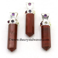 Red Jasper Pencil Cap Chakra Pendant