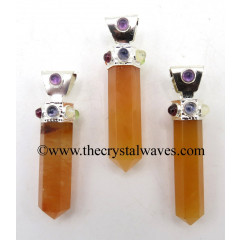 Red Aventurine Pencil Cap Chakra Pendant
