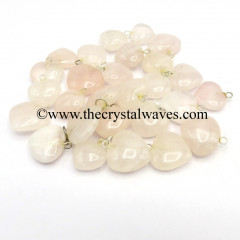 Rose Quartz 25 - 35 mm Pub Heart Pendants