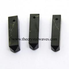 Shungite 4 Facet 1.50 - 2 Inch Pencil Pendant