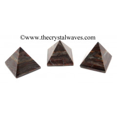 Red Tiger Eye Agate less than 15mm pyramid
