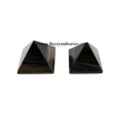 Blue / Black Tiger Eye Agate 23 - 28 mm pyramid